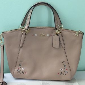 Coach small Kelsey satchel with floral
